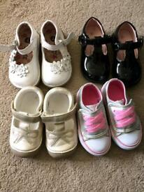 Baby Girls size 4 shoes