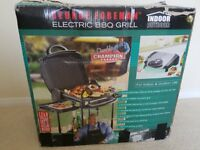 GEORGE FOREMAN INDOOR / OUTDOOR ELECTRIC BARBECUE GRILL IN IT'S ORIGINAL BOX
