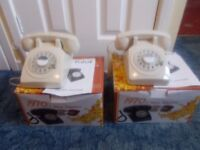 RETRO NEW BOXED TELEPHONES X2 £20 FOR BOTH TELEPHONES,NO WARRANTY