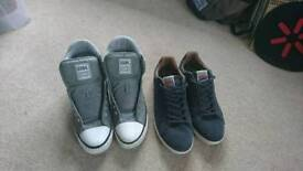 2 Pairs of Mens Shoes Size 12 Barely Worn - Gola + British Knights