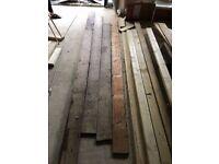 Reclaimed Pine Solid Wood Floorboards