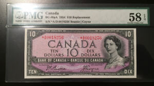 "1954 Canada ""Replacement"" 10 Dollars, Choice About UNC"