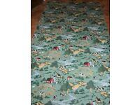large wipe clean tablecloth 88x51 - country farm animal design