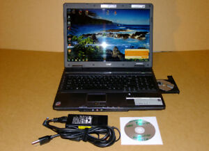 """ACER BUSINESS edition laptop, DUAL CORE CPU, 17"""" LCD, WIN 7 PREM"""