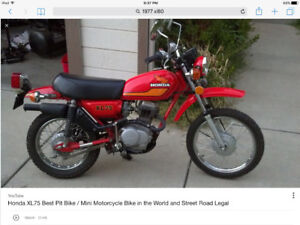 ISO 1977 xl75 parts bike