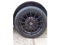 "Set of 4 17"" Fox racing FX004 Black Alloys good condition £300 (ono)"