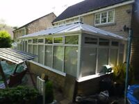 Large Conservatory 9m X 4.5m X 1.75 Frame Height on a 600mm high wall