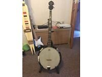 5 string banjo Samick artist series