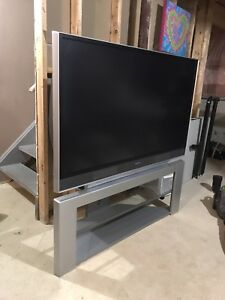 55inch HITACHI projection flat screen with stand