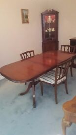 Strongbow Mahogany Dining Table and 4 Chairs in as new condition.