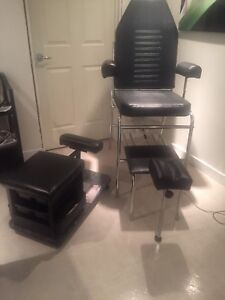 Pedicure Chair and stool for stool