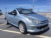 PEUGEOT 206CC 2.0 16V ,SILVER BLUE ,WORKING ROOF,GOOD CONDITION LOW MILEAGE LOOKS+ DRIVES WELL