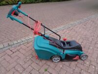 "Bosch Rotak 40-1 Ergo electric lawnmower (16"" cut) in nearly new condition"
