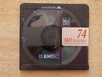 10 x BASF 74 MD MAXIMA EMTEC BLANK RE-CORDABLE MINI DISCS 74 MINUTES