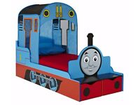 Thomas the Tank Engine Kids Toddler Bed with Storage & Mattress – Rarely used - £120