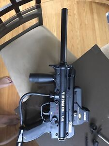 Tippman A5 with Electronic Trigger, and tactical add ons