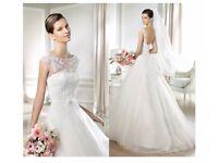 Beautiful Wedding Dress Size 38 -£249 FREE veil