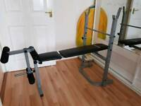 Folding weight training bench - New