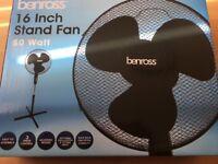 """Black 16"""" stand fan"""