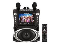 """NEW Karaoke Machine with 7"""" TFT Colour Screen with Record and Bluetooth"""