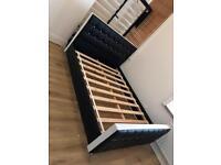 KINGSIZE faux leather diamond bed