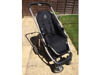 iCandy Cherry Stroller with carry cot, Cosy Toes & Maxi Cosi car seat adapters