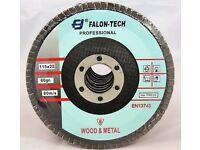 Grit 36, 40, 60, 80, 120 Flap discs 115 4,5' sander, abrasive angle grinder, grinding wheel