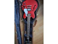 Beautiful Gibson 339 Cherry Red, never played or out of case, £1,200 o.n.o.