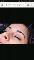 hi their im offering eye brow threading waxed and I can do whole