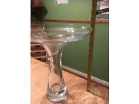 Large Bohemian glass vase