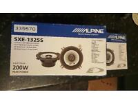 2 x Pack of 2 200W Coaxial 2-way Alpine Speaker