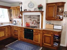 BALLYGOWAN SOLID OAK KITCHEN - including dresser (can be sold separately)