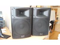 2-PA Speakers Passive 350w, 2-way moulded pvc enclosure - TODAY ONLY!!