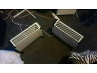 Two portable radiators