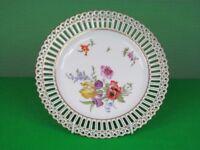 9 x Antique pierced porcelain cake plates