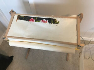 Cross Stitch Hardwood Scroll Frame Working Station