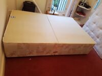 Double Divan Bed Base (as New) and Free Sealy Mattress