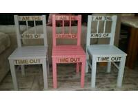 Kids wooden time out chairs