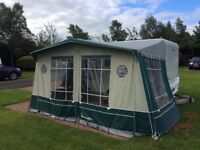 Isabella awning, Capri Lux size 7, 825cms. Carbon fibre poles, very good condition.