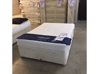 """4'6"""" Double divan bed with 4 drawers"""