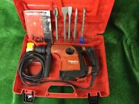 Hilti 30C AVR Hammer Drill / Light Breaker 110v plus new chisels