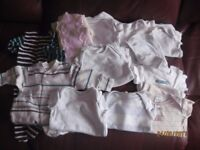 Newborn boys clothes 12 items in total. Sleepsuits and body suits. Disney and Next