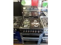 FLAVEL 60CM ALL GAS COOKER IN SILIVER WITH LID