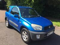 TOYOTA RAV 4 1.8 VVTI NV 3 DOOR 53 REG IN BLUE WITH FULL SERVICE HISTORY AND MOT MARCH 2018