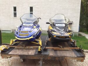 Summer spetial, two sleds and a trailer.
