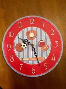 Wall Clock with Sports Theme