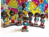 Robertsons Golly Band . Complete set of pottery figures1960s -70s