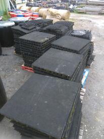 Reclaimed playground mats
