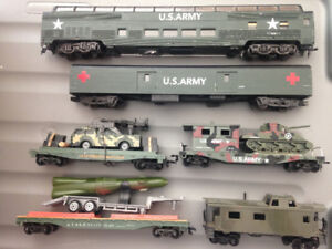 Ho Scale US ARMY Lot de wagons, lot of cars