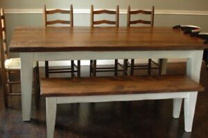 Custom Harvest Tables and Cabinets